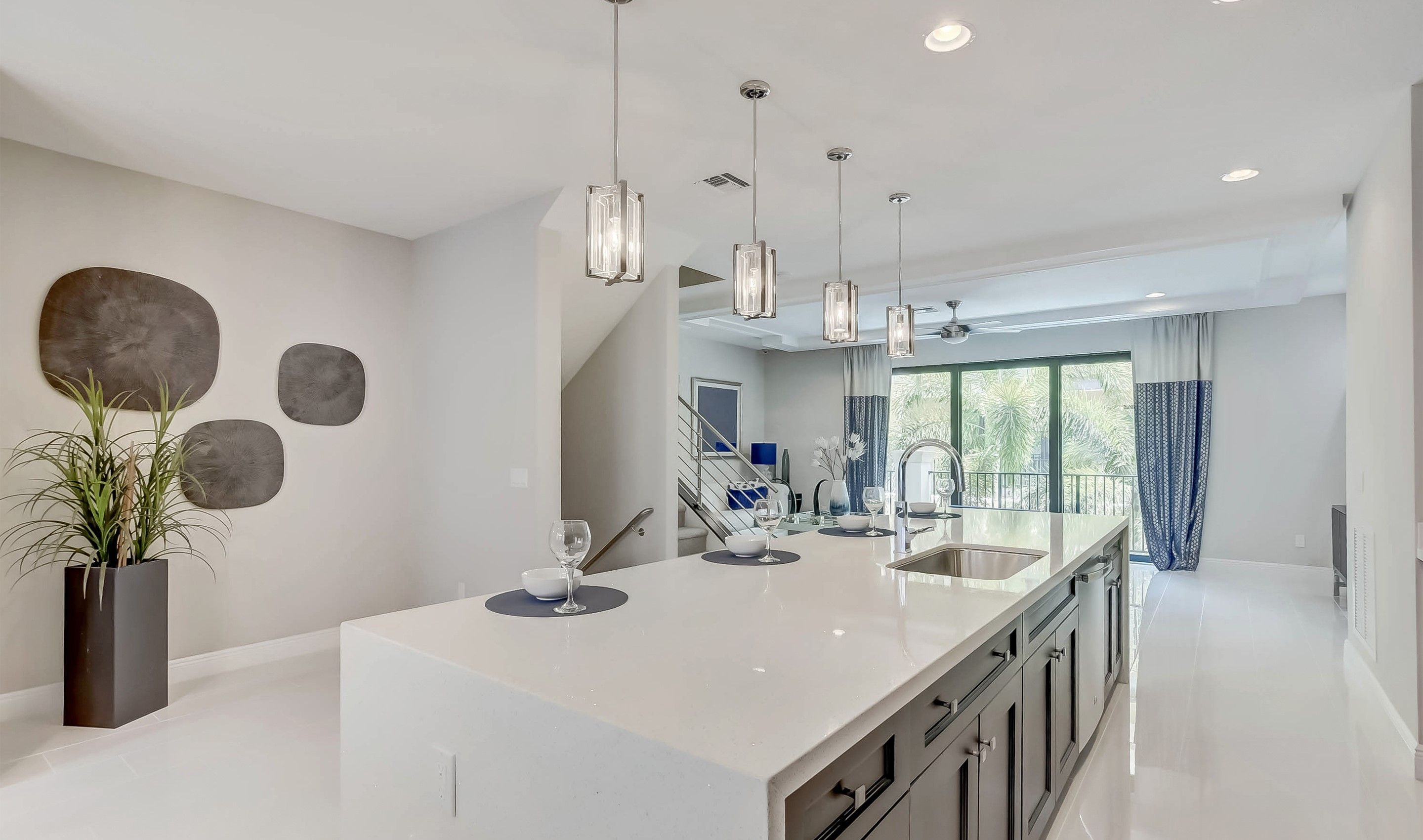 Kitchen featured in the Selena II - Townhome By K. Hovnanian® Homes in Palm Beach County, FL