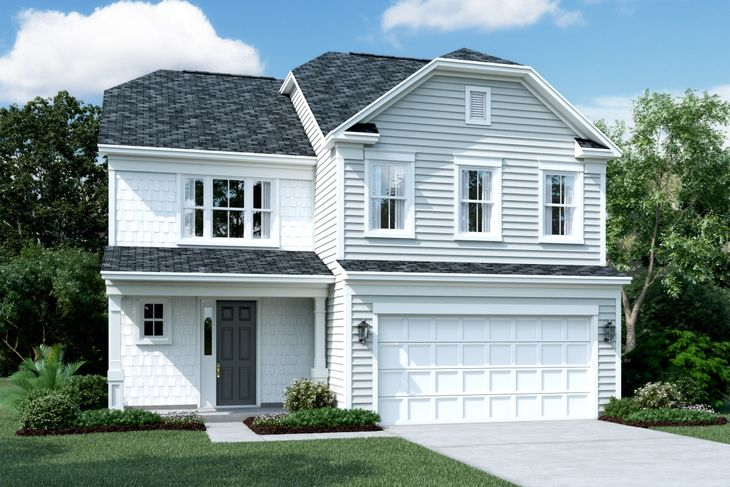 Exterior:Elevation E - Shown with Opt. Stone
