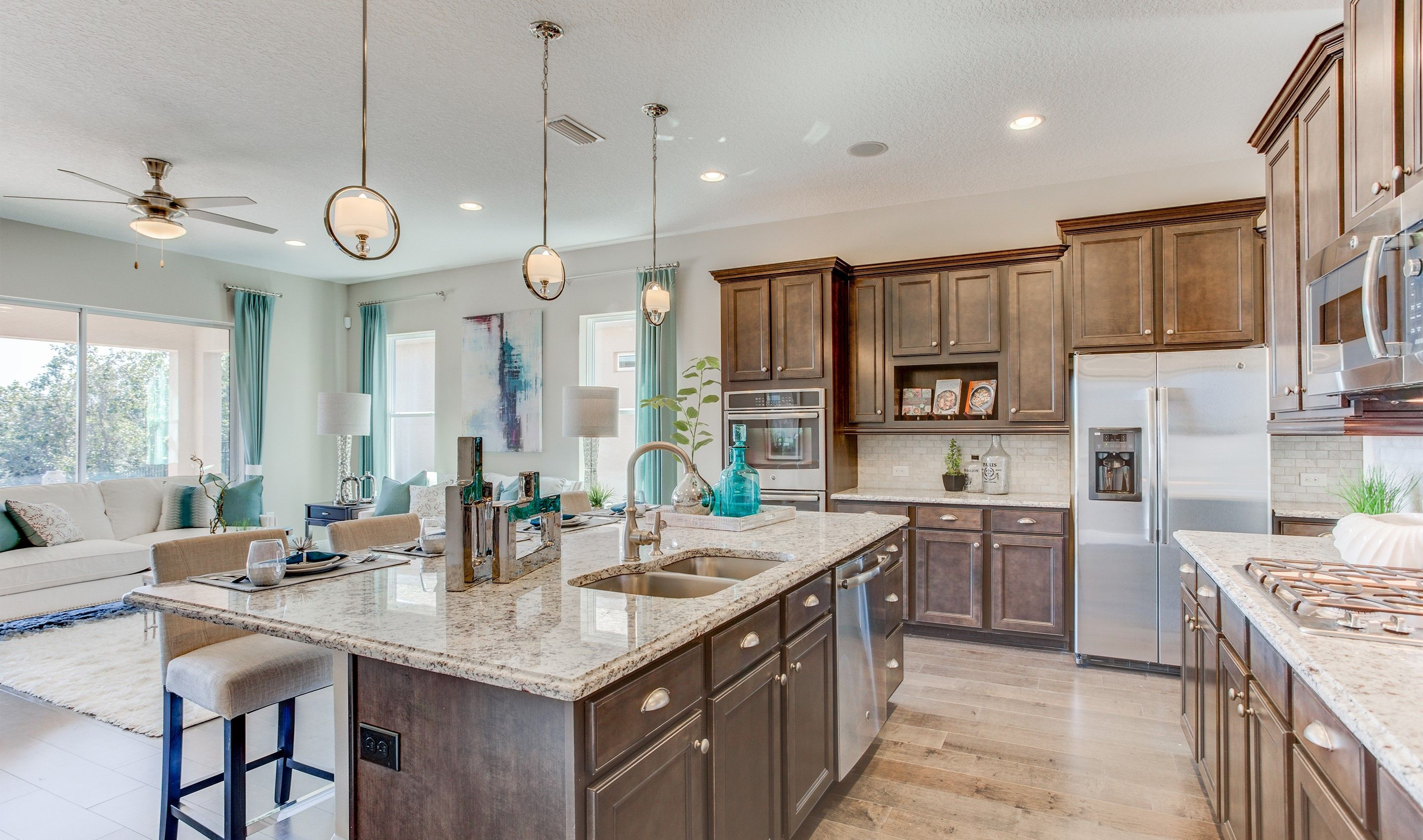 Kitchen-in-Harper-at-The Highlands at Summerlake Groves-in-Winter Garden