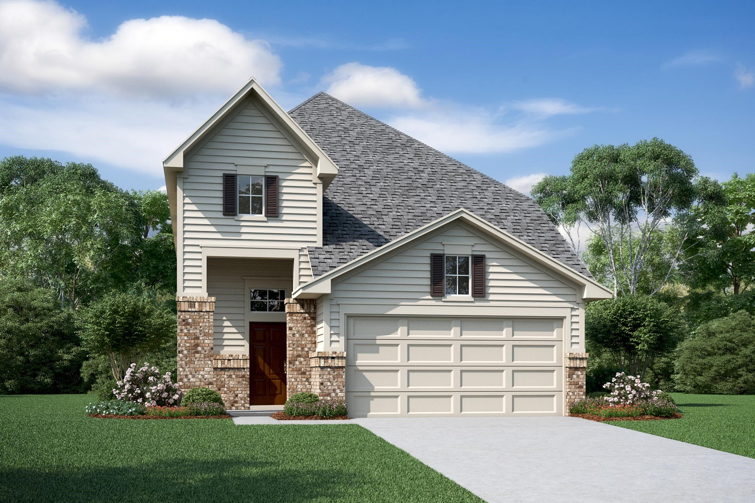 Exterior featured in the Darlington II By K. Hovnanian® Homes in Houston, TX