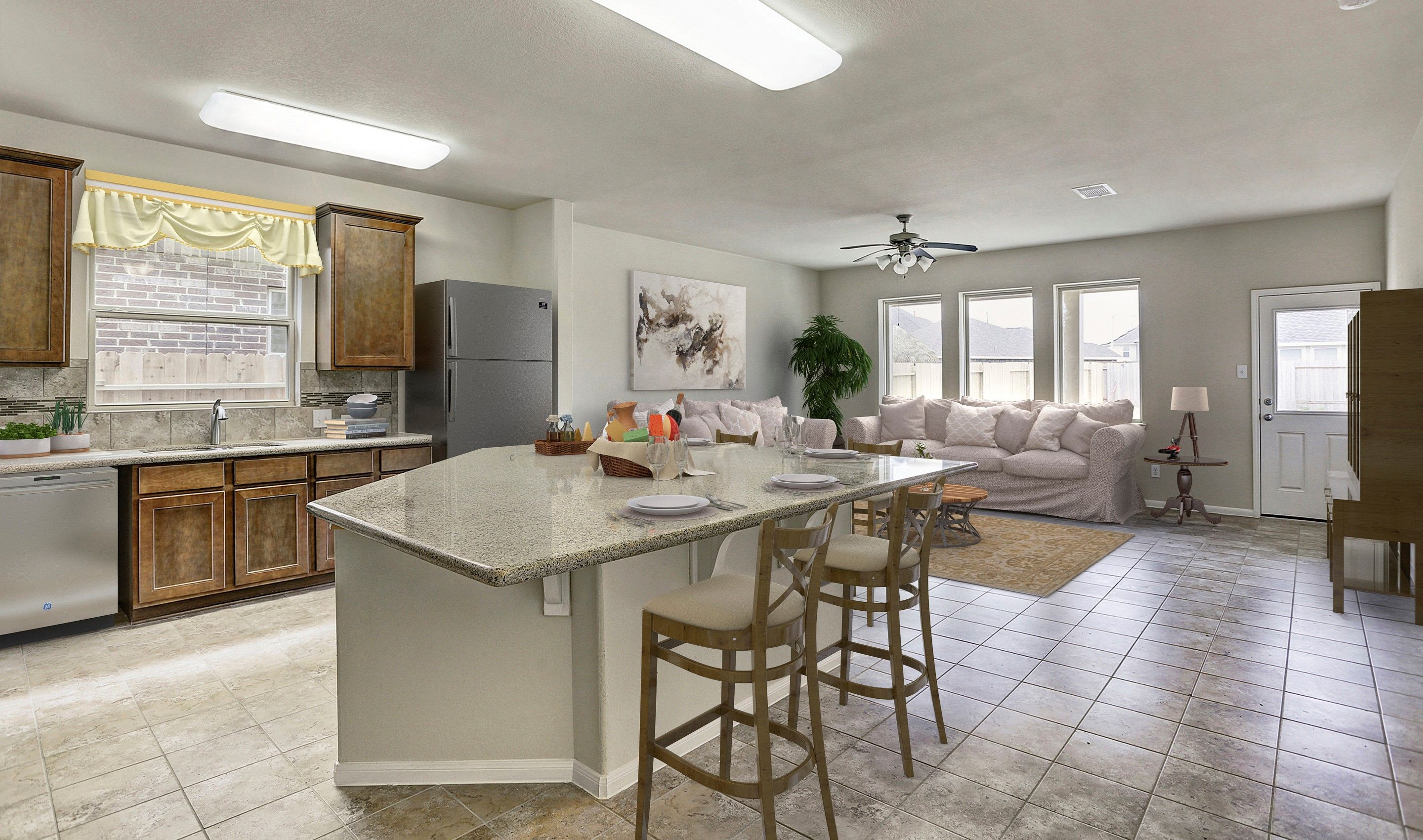 Kitchen-in-Bella II-at-Woodshore-in-Clute