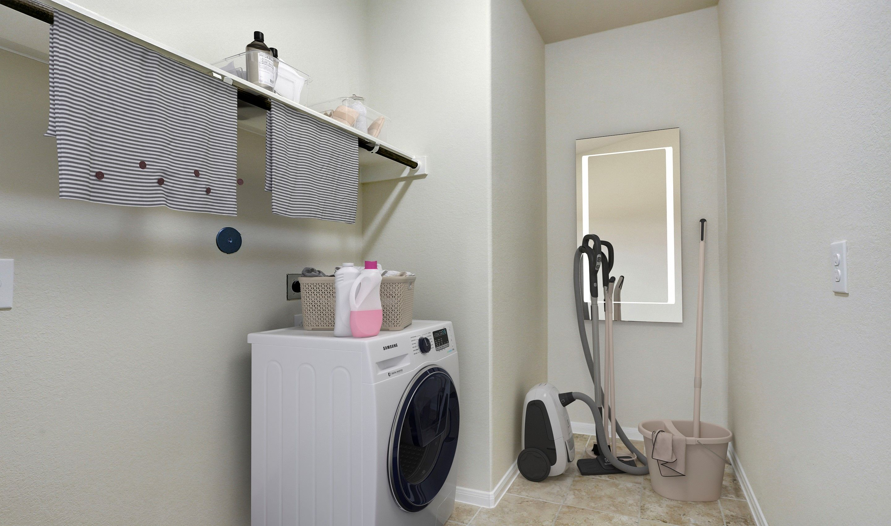 Laundry-in-Bella II-at-Woodshore-in-Clute