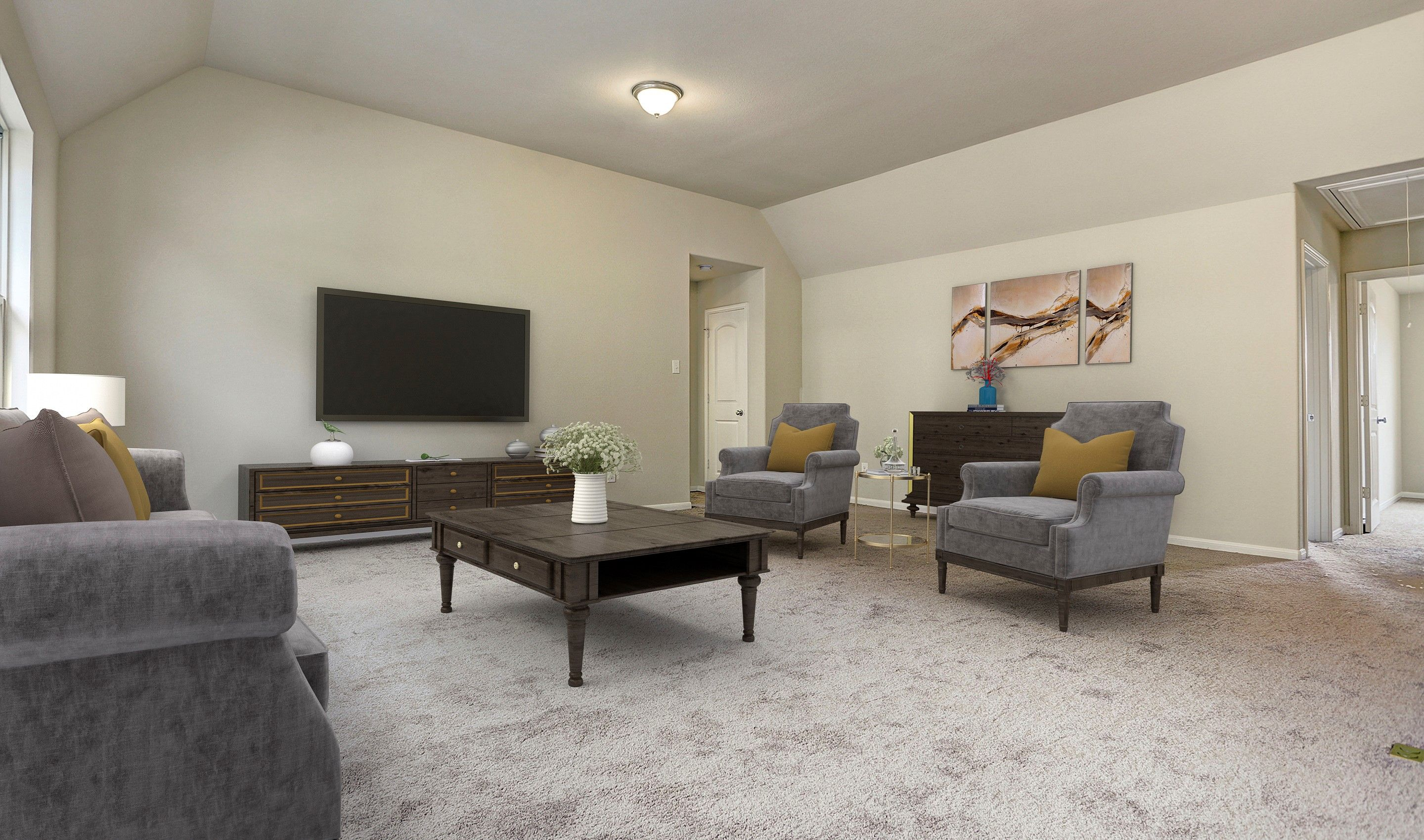 Living Area featured in the Bella II By K. Hovnanian® Homes in Brazoria, TX