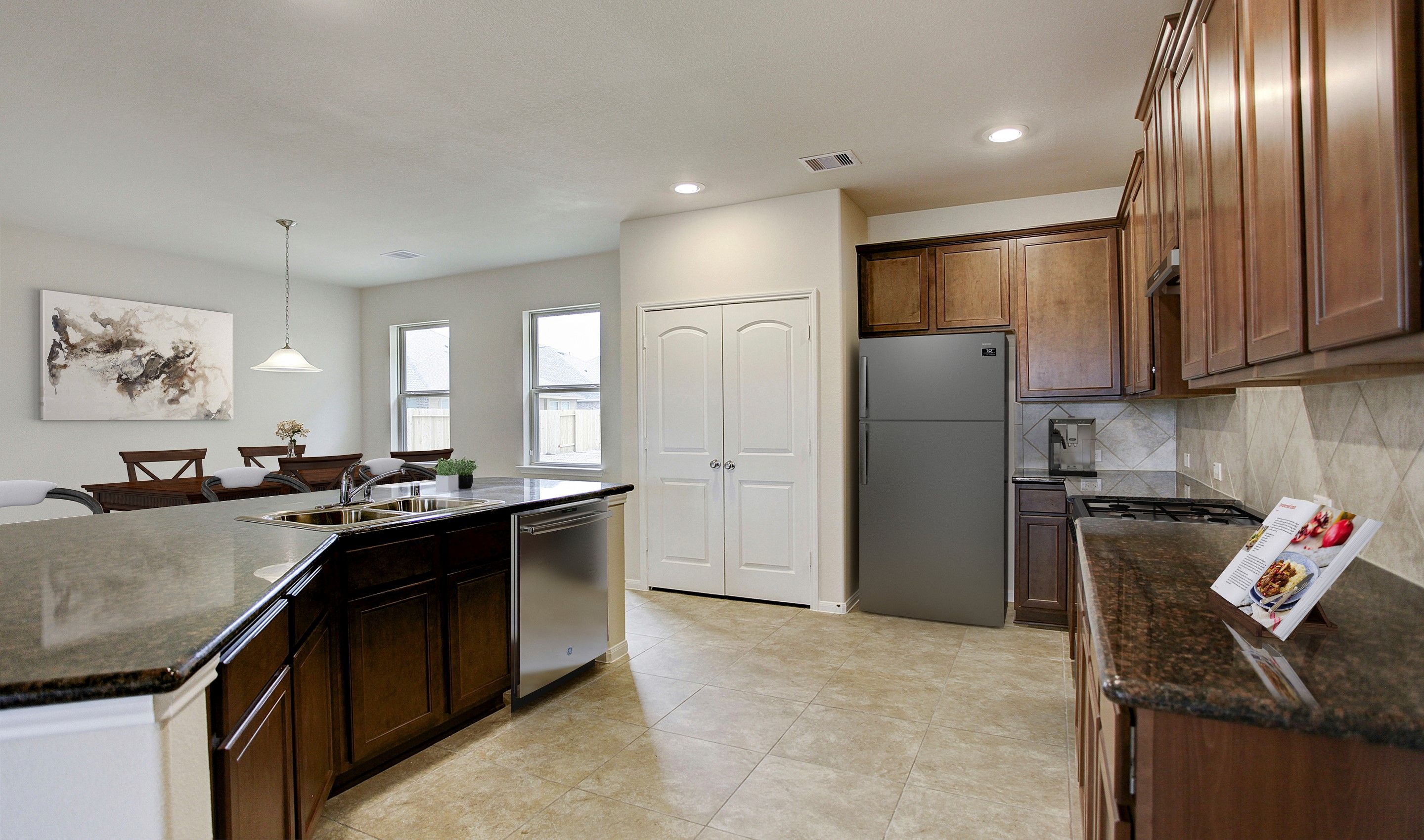 Kitchen-in-Langham III-at-The Villages at Champion's Gate-in-Mont Belvieu