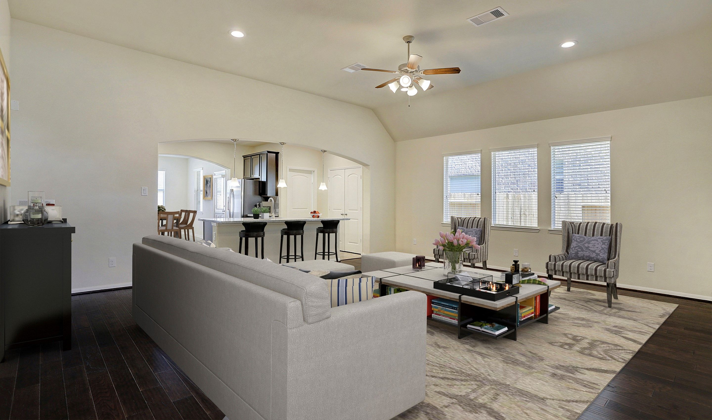 Greatroom-and-Dining-in-Juniper II-at-Woodshore-in-Clute
