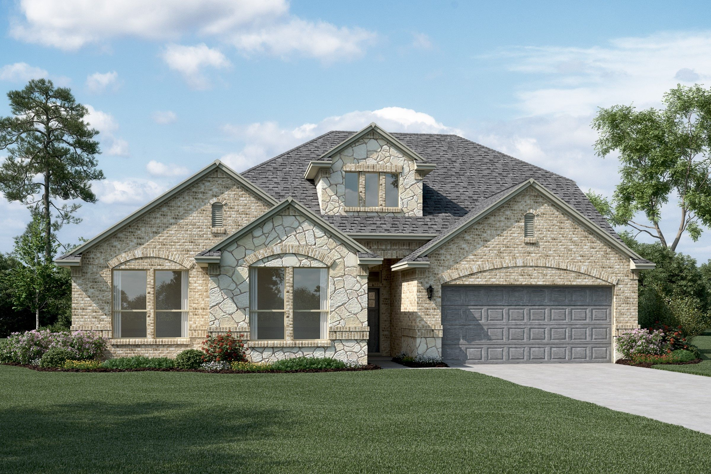 Exterior featured in the Brookstone IV By K. Hovnanian® Homes in Fort Worth, TX