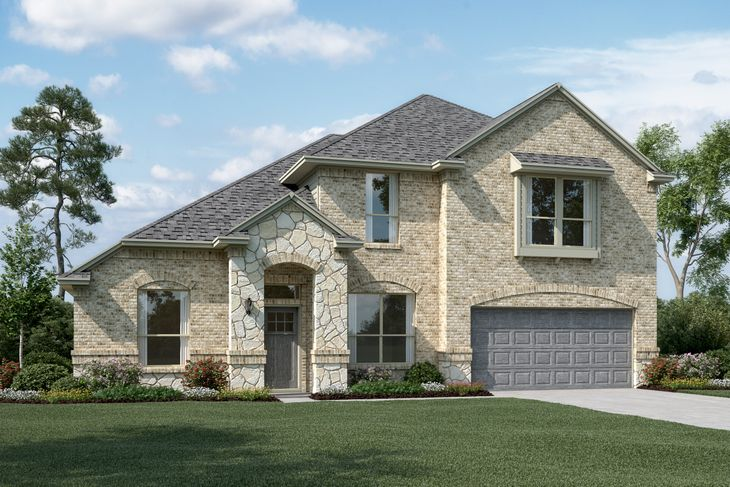 Exterior:Brentwood II - C - Optional stone