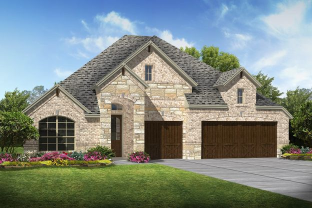 Exterior:Cooperfield II - C - Shown with stone