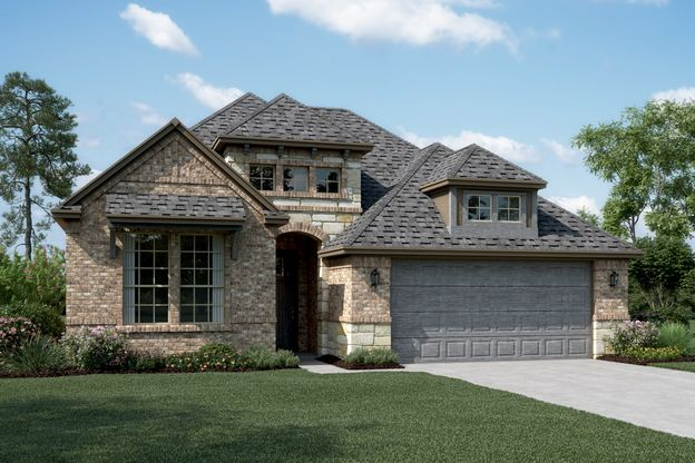 Exterior:Riverdale - B - Shown with stone