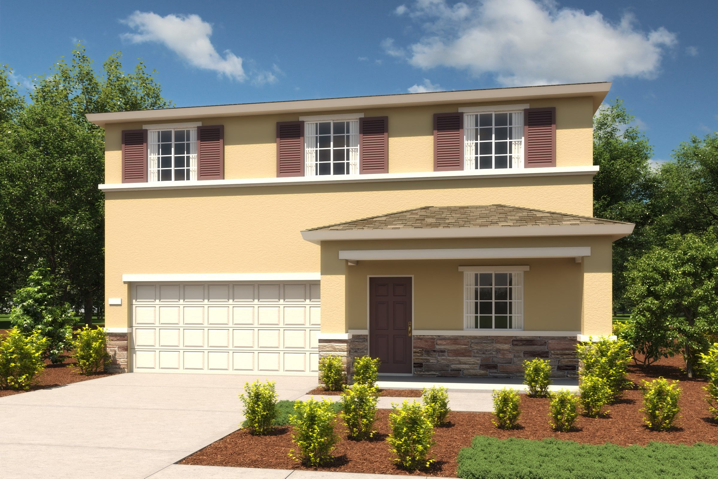 Exterior featured in the Primrose By K. Hovnanian® Homes in Merced, CA
