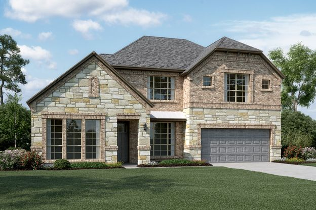 Exterior:Hillcrest IV - C - Optional stone