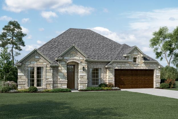 Exterior:Danbury IV - C - Optional stone