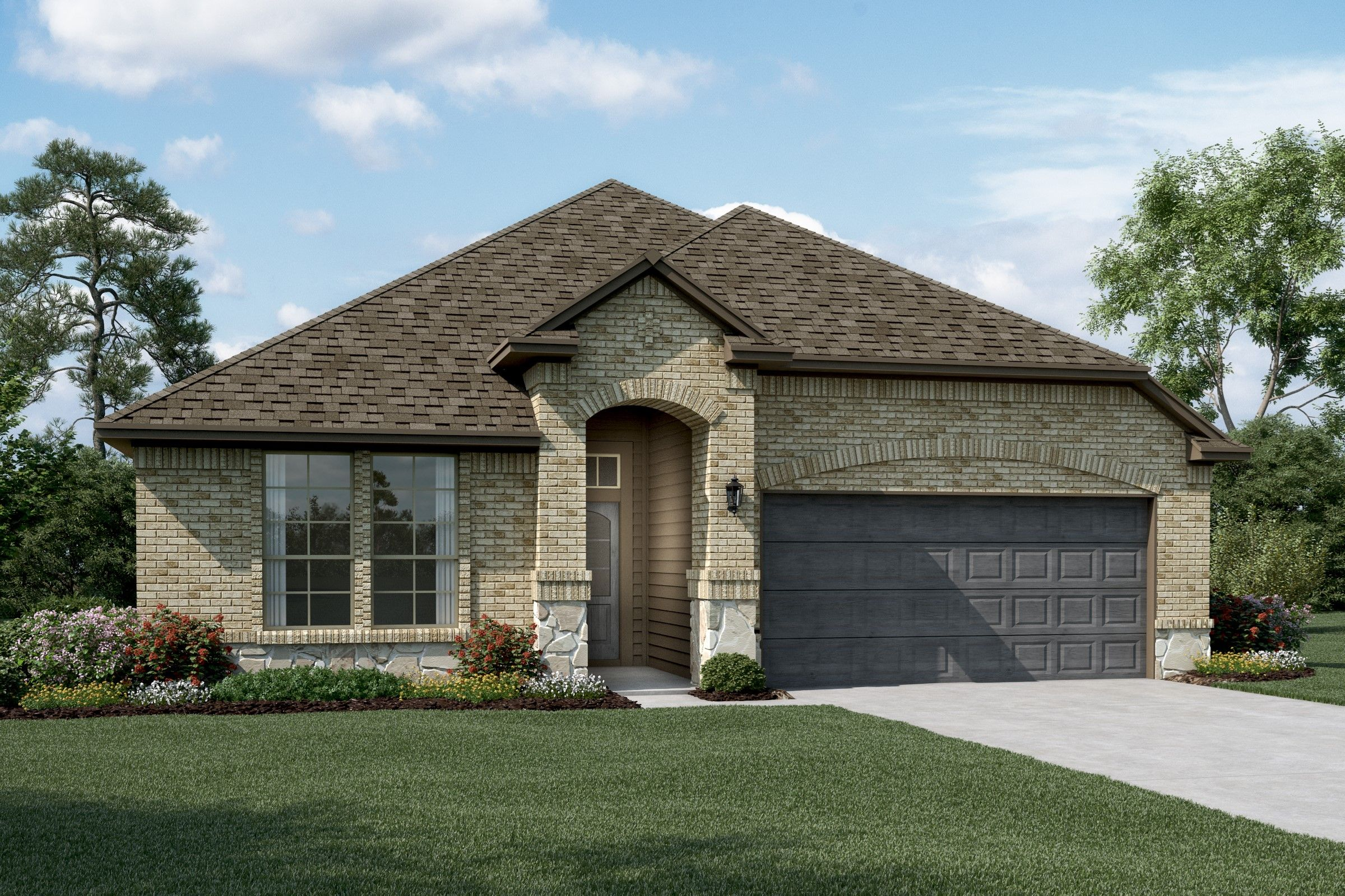 Exterior featured in the Rockford By K. Hovnanian® Homes in Sherman-Denison, TX