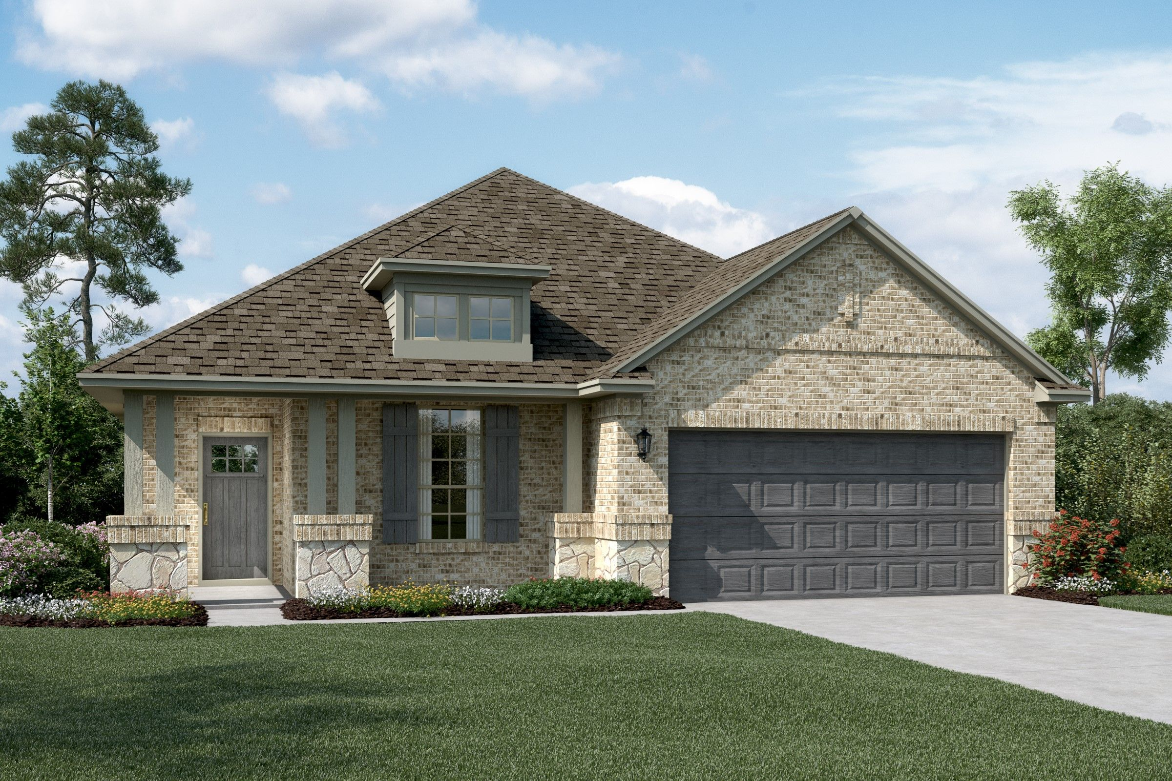 Exterior featured in the Dover By K. Hovnanian® Homes in Sherman-Denison, TX