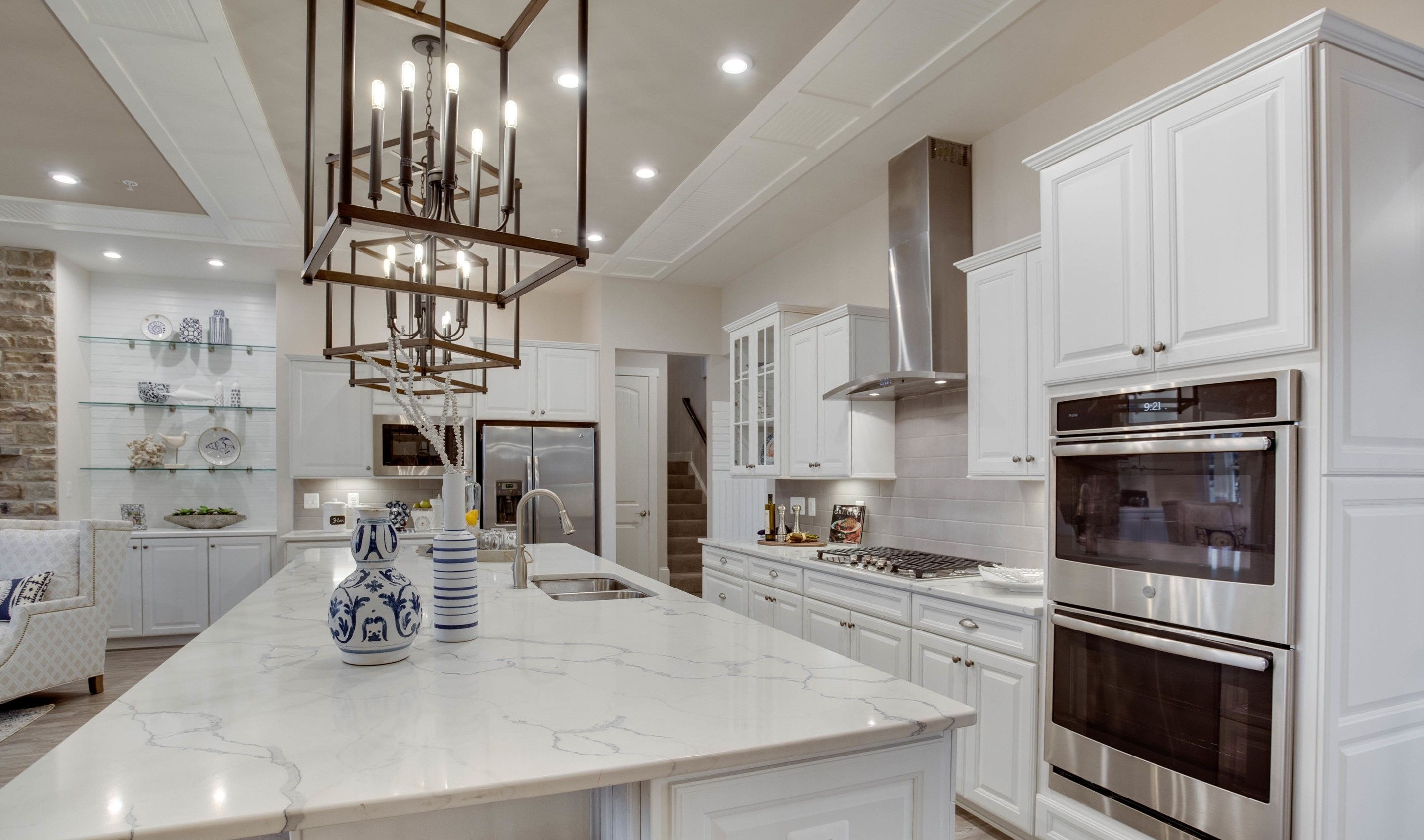 Kitchen-in-Santorini Loft - Island Series-at-K. Hovnanian's® Four Seasons at Kent Island-in-Chester