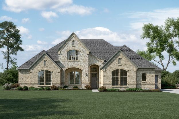 Exterior:Brookside - L - Optional stone