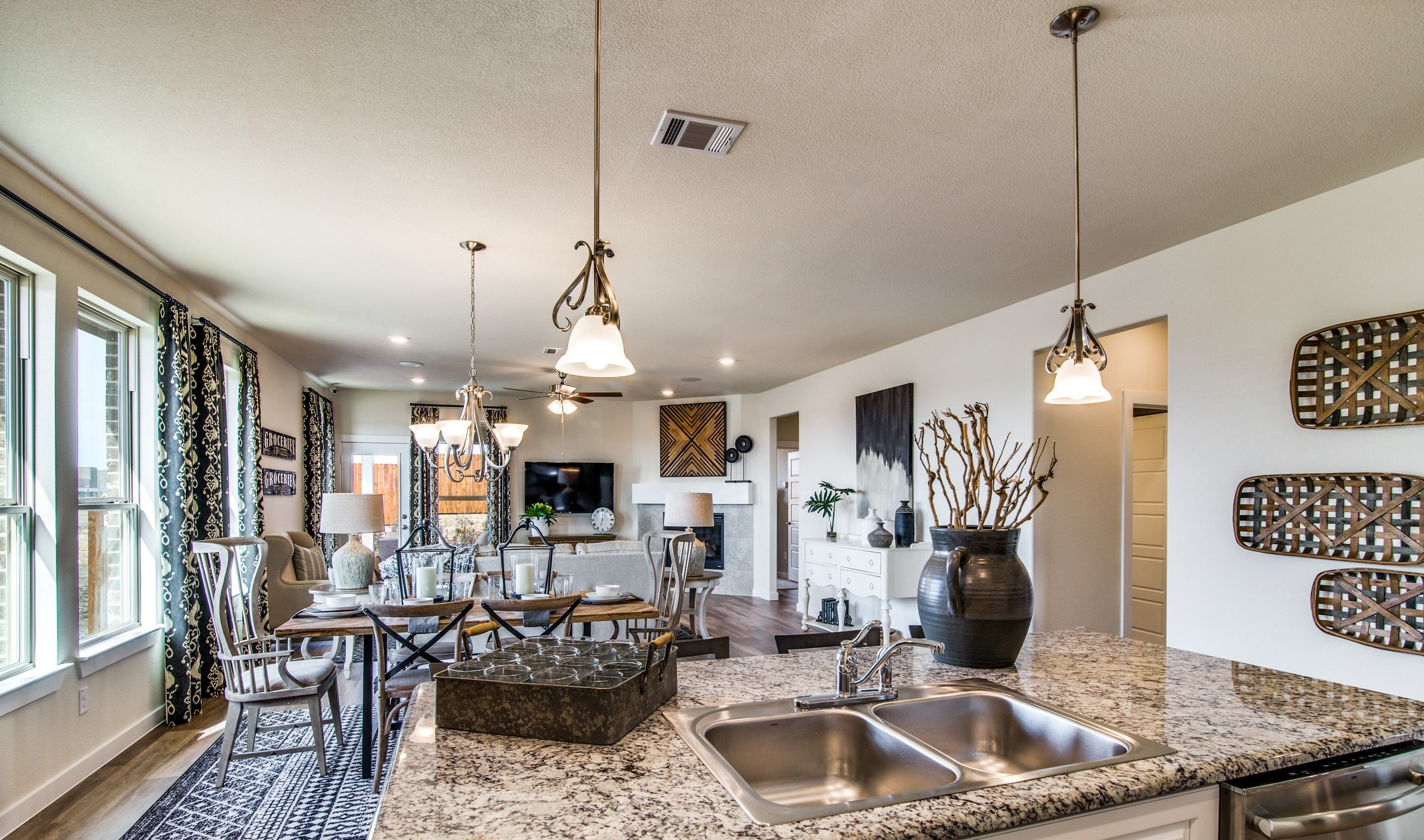 Living Area featured in the Birkdale II By K. Hovnanian® Homes in Fort Worth, TX