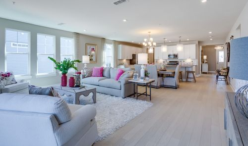Greatroom-and-Dining-in-Donegal - River Series-at-K. Hovnanian's® Four Seasons at Kent Island-in-Chester