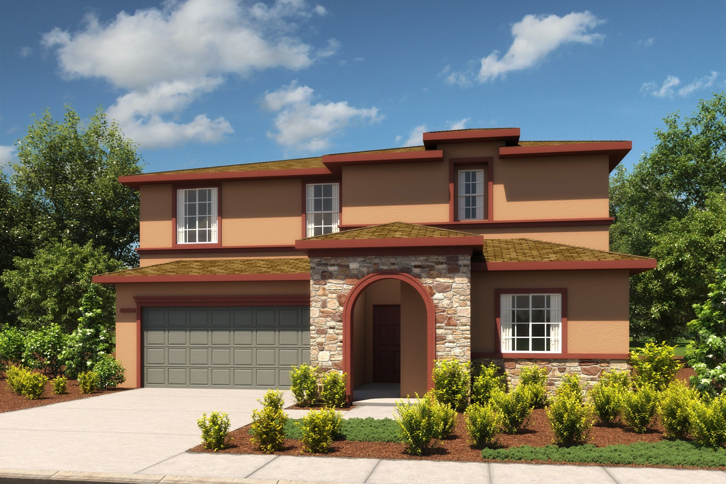 Exterior featured in the Topaz By K. Hovnanian® Homes in Fresno, CA
