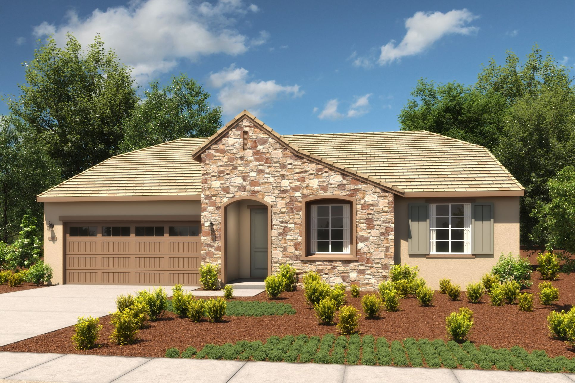 Exterior:Begonia French Cottage B