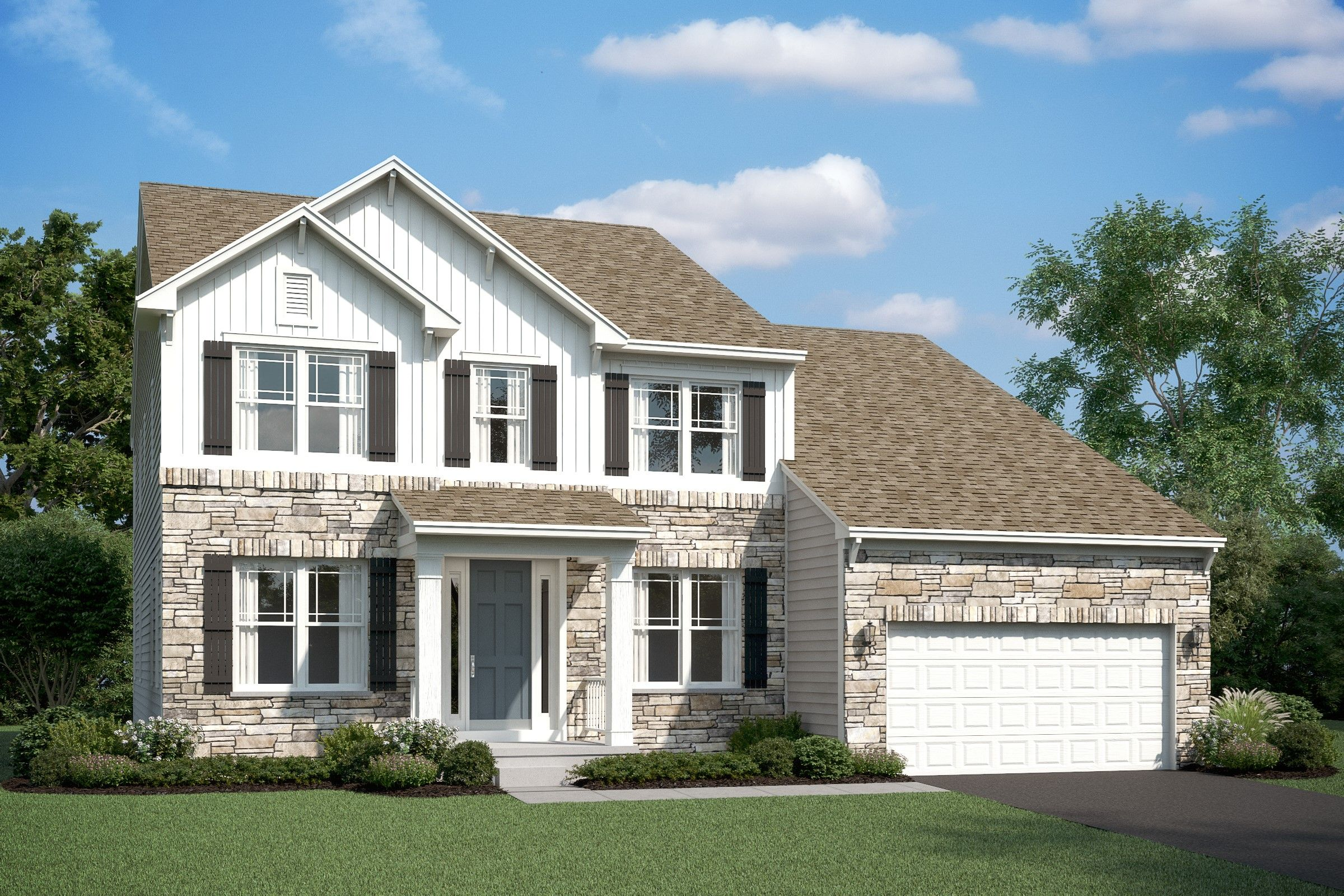 Exterior featured in the Portland II By K. Hovnanian® Homes in Ocean City, MD