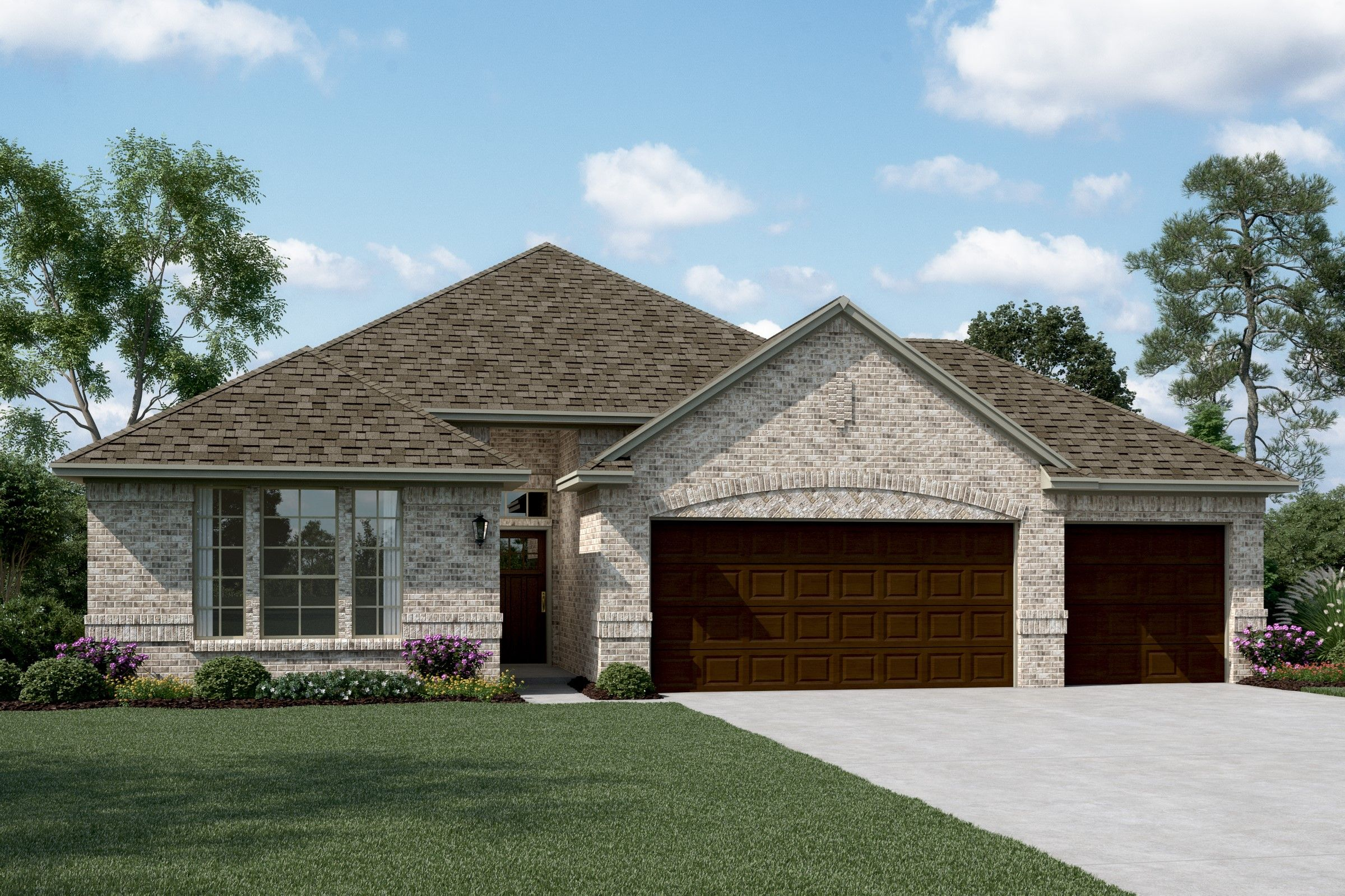Exterior featured in the Camelot II - 3 Car By K. Hovnanian® Homes in Dallas, TX