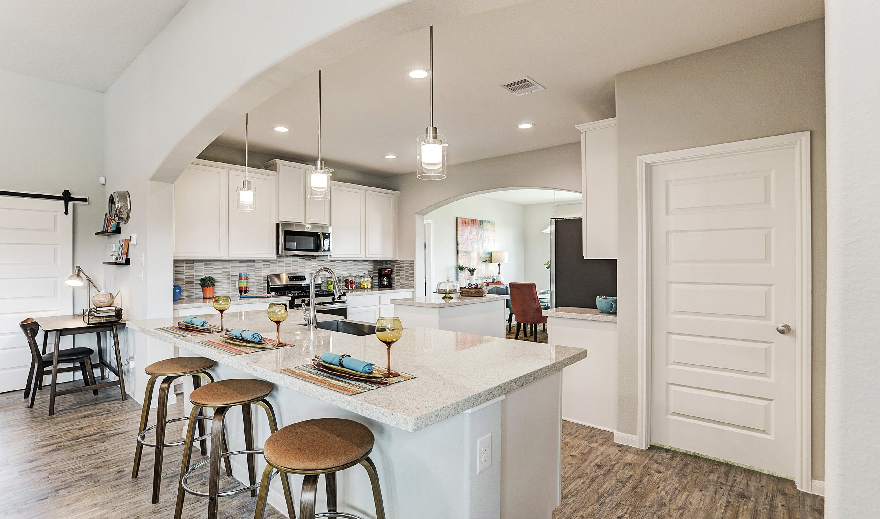 Kitchen featured in the Juniper II By K. Hovnanian® Homes in Brazoria, TX