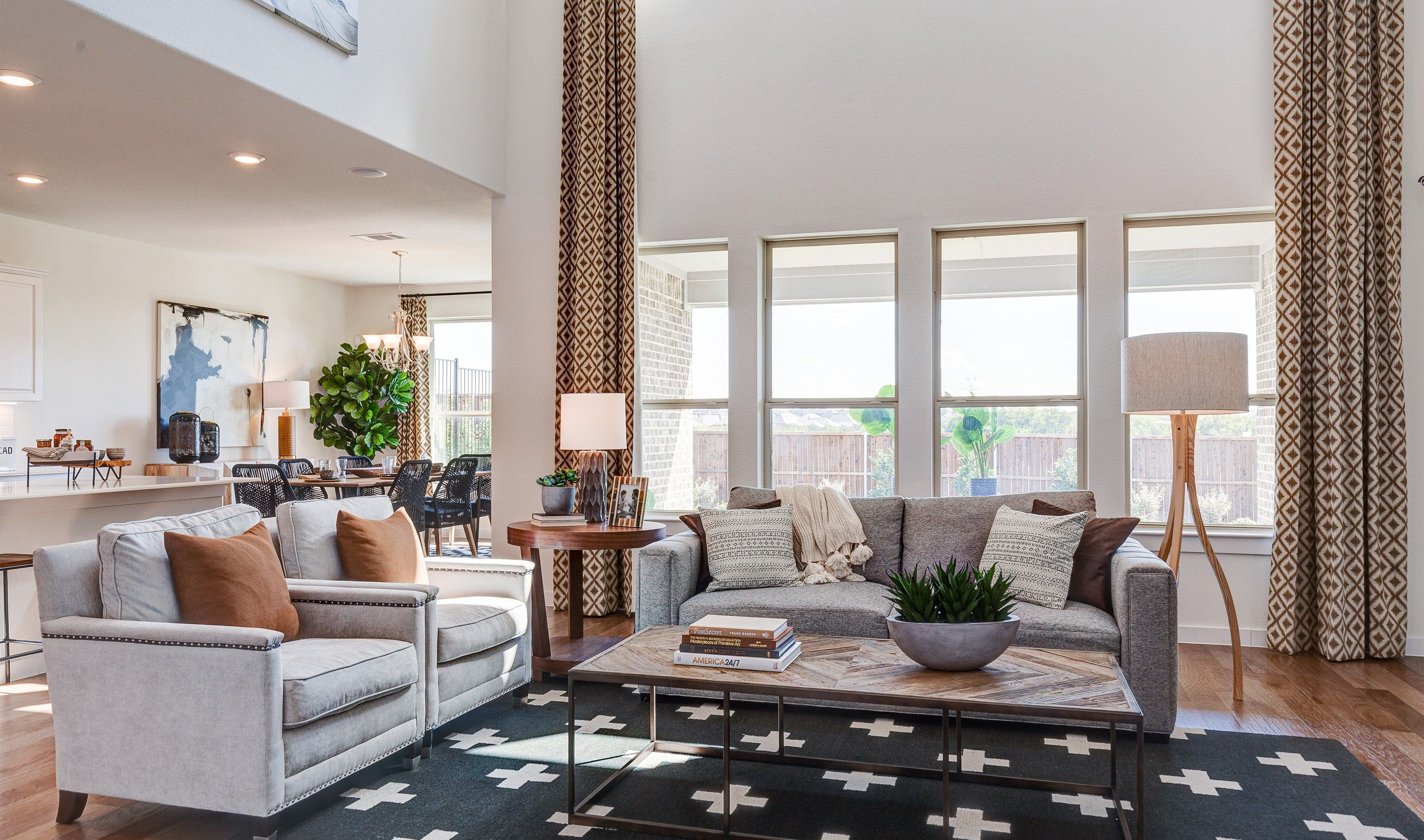 Living Area featured in the Brookstone IV By K. Hovnanian® Homes in Fort Worth, TX