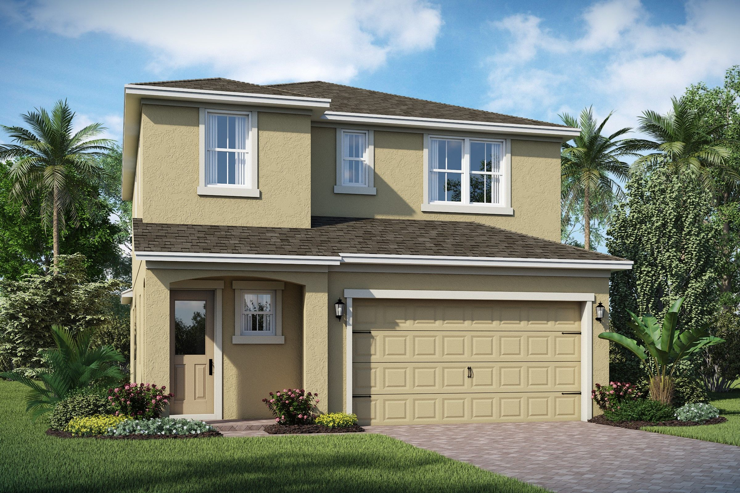 Exterior featured in the Valencia II By K. Hovnanian® Homes in Orlando, FL