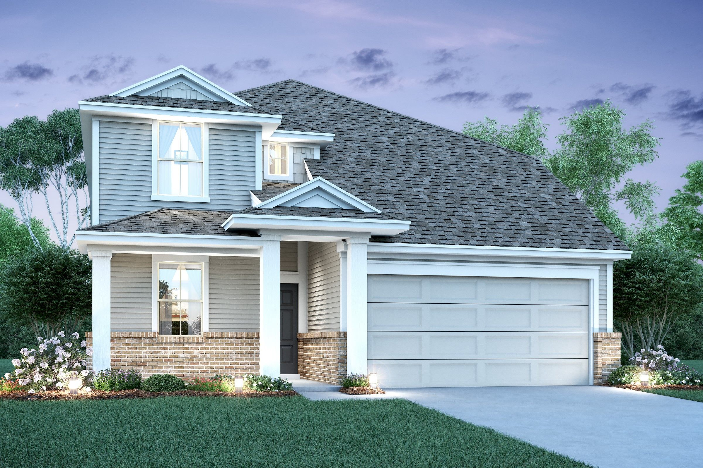 Exterior featured in the Ivory By K. Hovnanian® Homes in Houston, TX