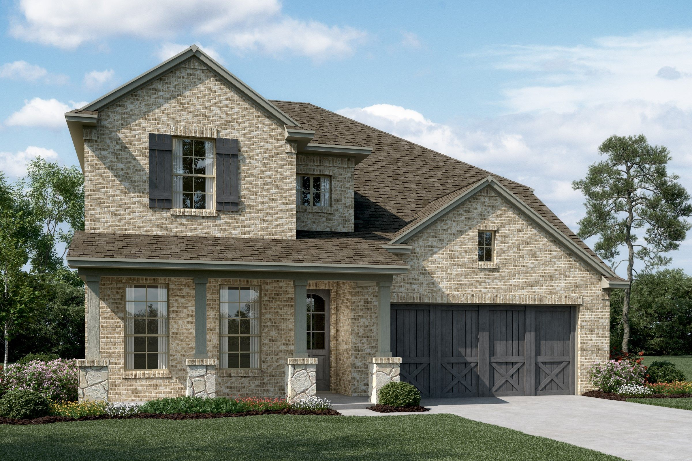 Exterior featured in the Kensington By K. Hovnanian® Homes in Dallas, TX