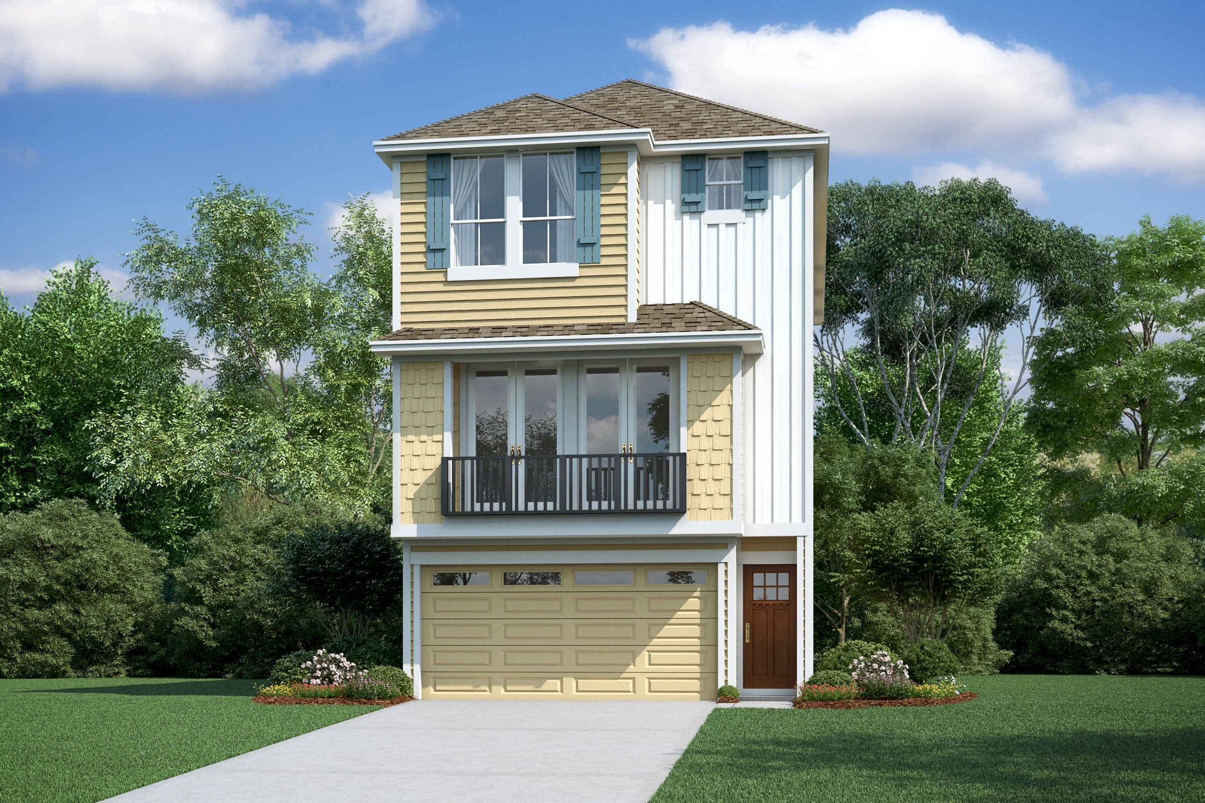 Exterior featured in the Radcliffe II By K. Hovnanian® Homes in Houston, TX