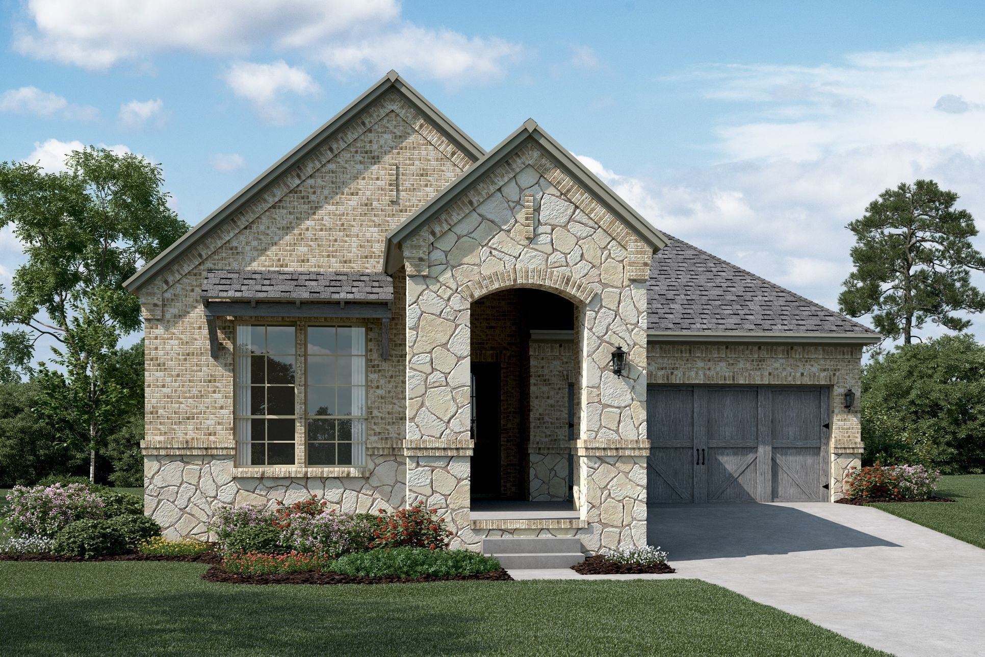 Exterior:Del Ray - C - Optional stone