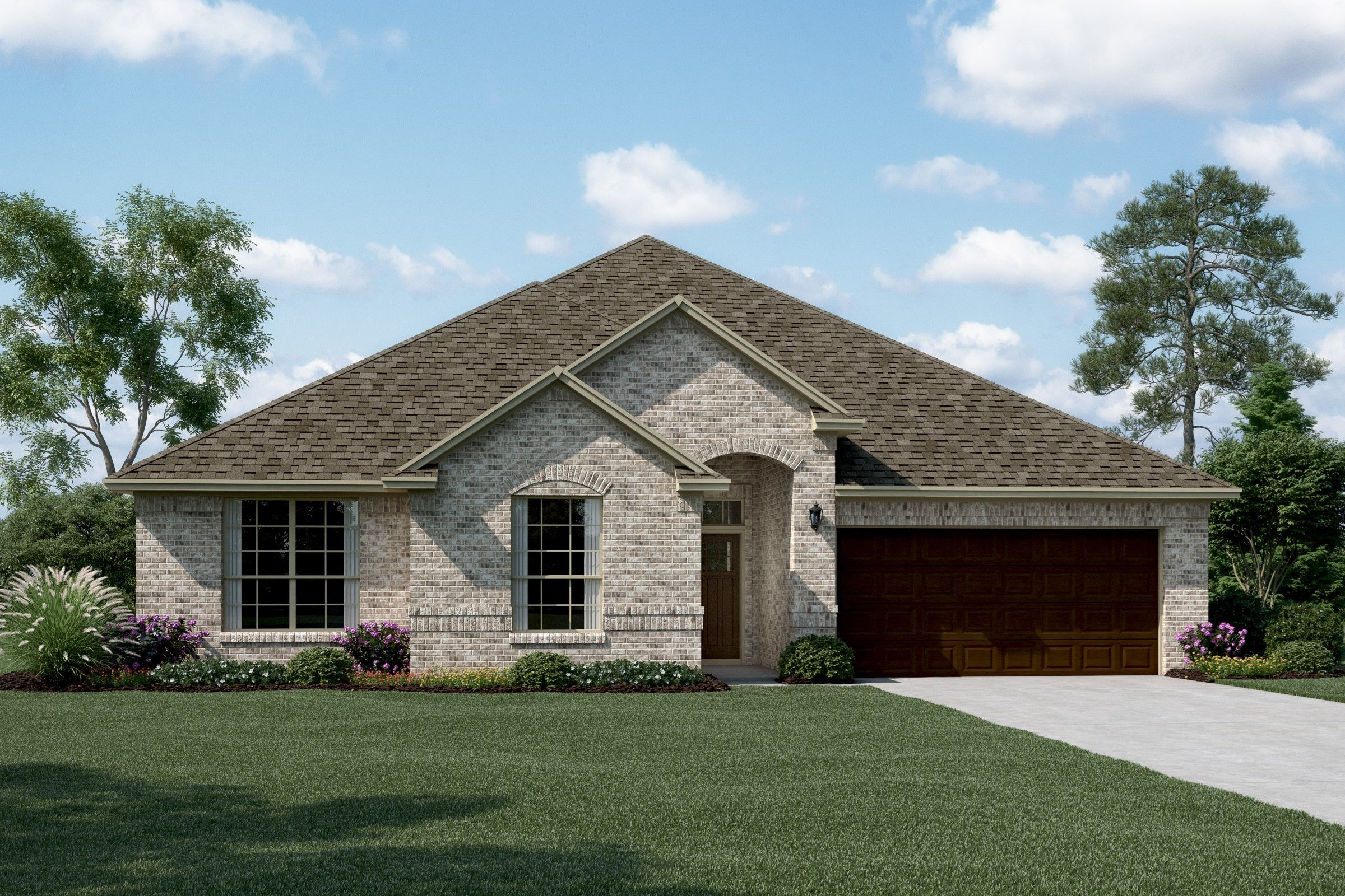 Exterior featured in the Wedgewood II By K. Hovnanian® Homes in Dallas, TX