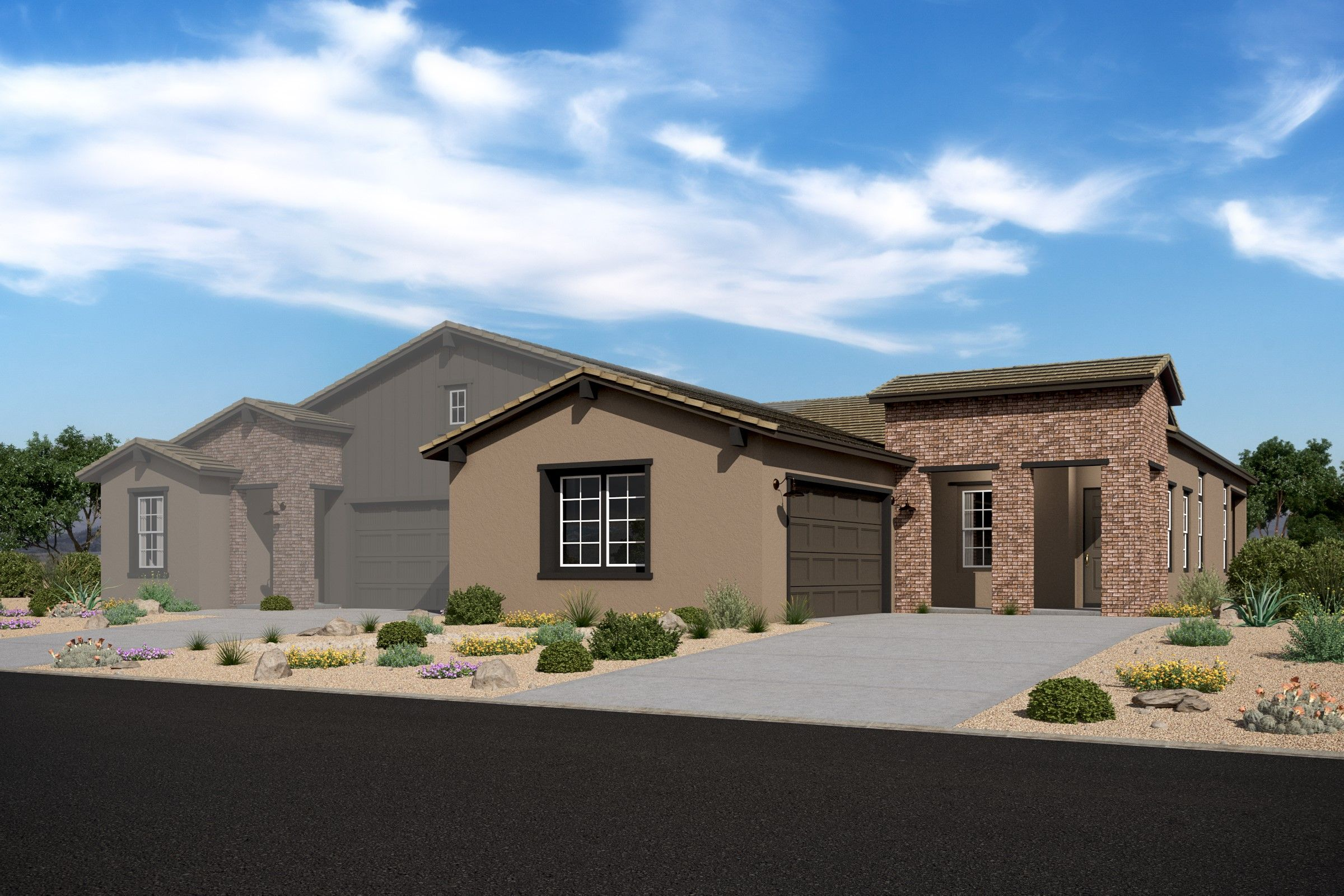 Exterior featured in the Apex By K. Hovnanian® Homes in Phoenix-Mesa, AZ