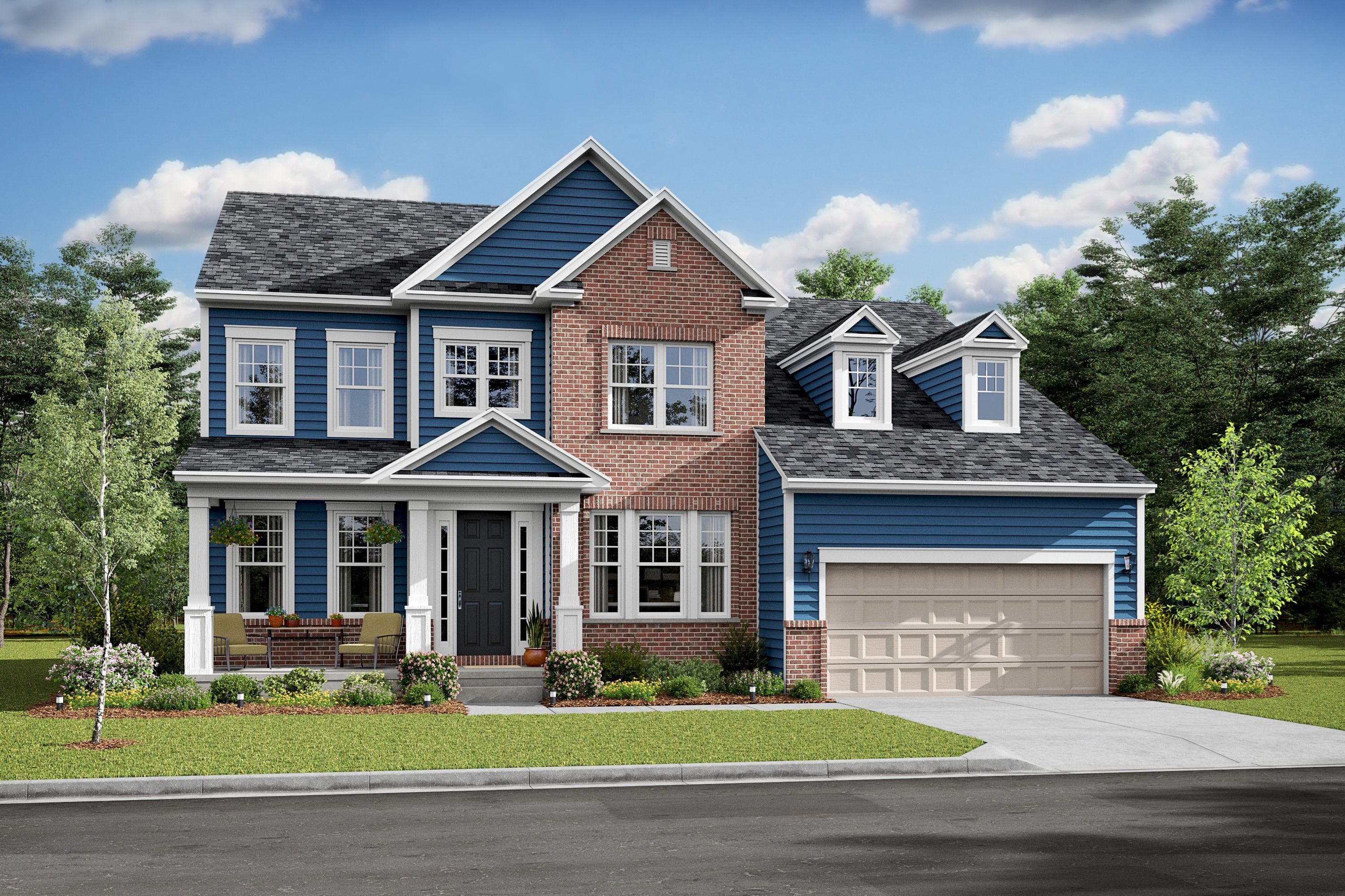 Exterior featured in the Alaska II By K. Hovnanian® Homes in Washington, VA