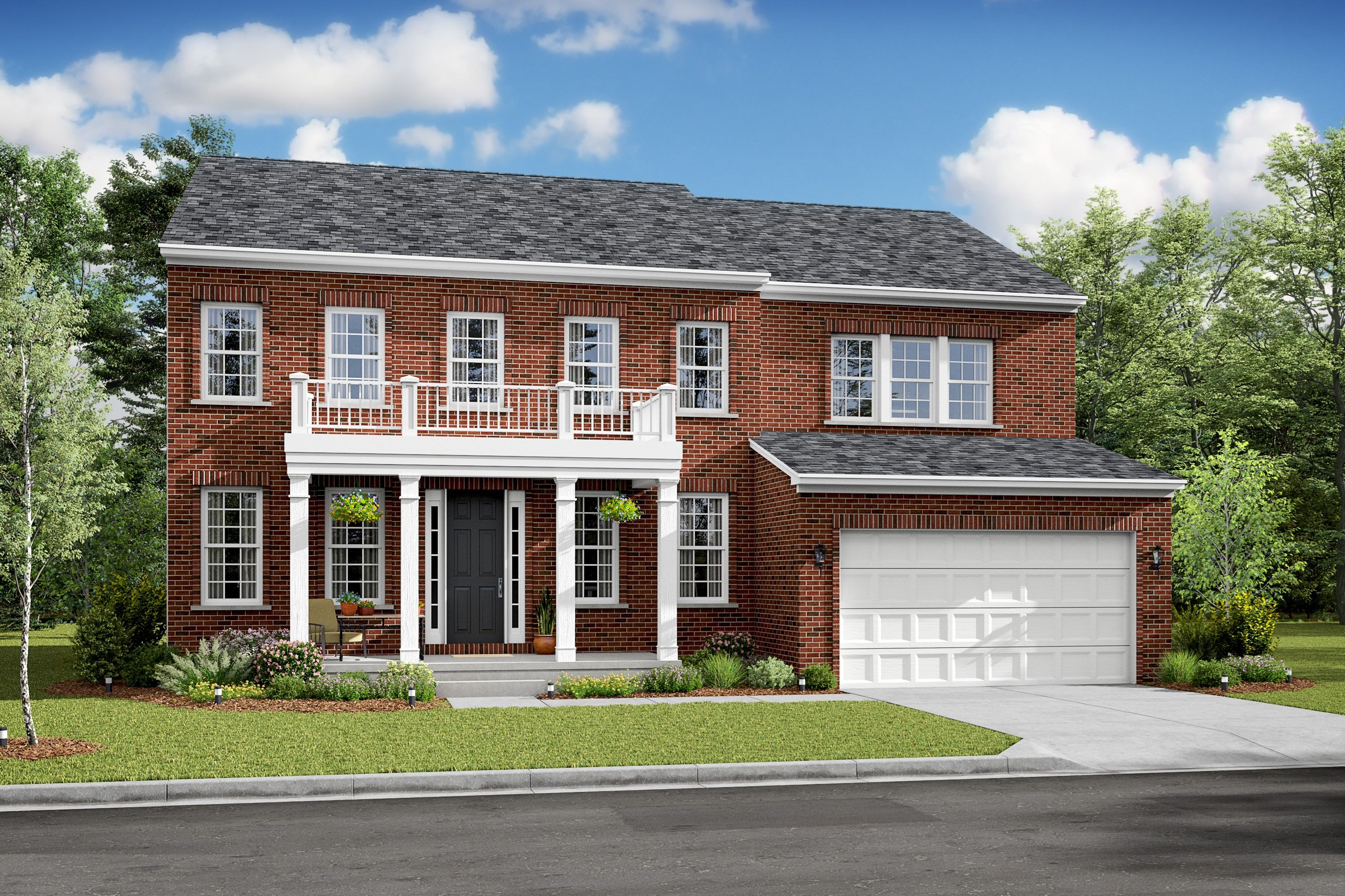 Exterior featured in the Potomac By K. Hovnanian® Homes in Washington, VA