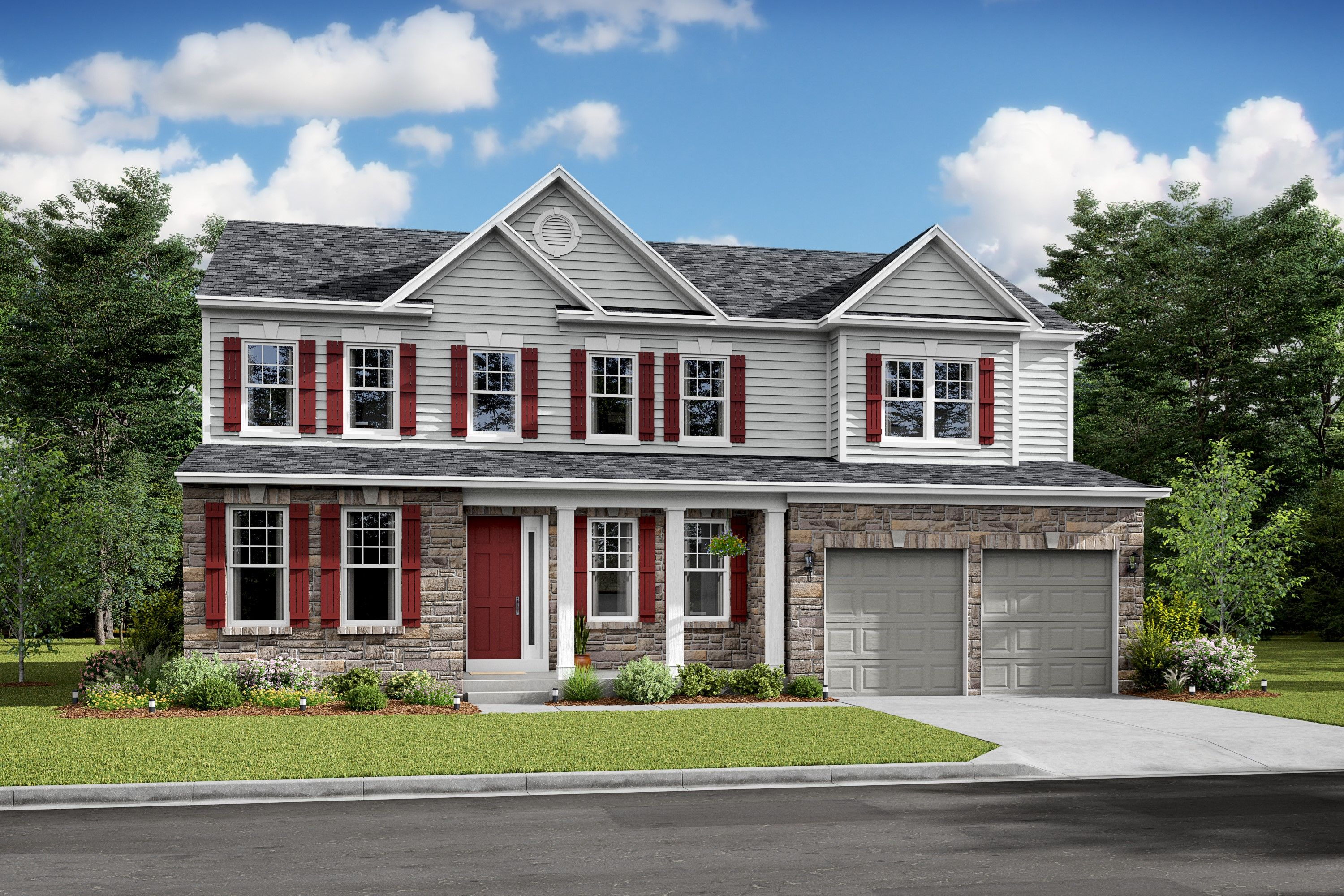 Exterior featured in the Delaware II By K. Hovnanian® Homes in Washington, VA