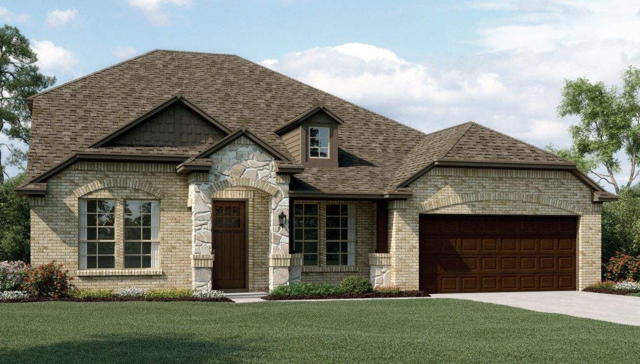 Exterior featured in the Ashmont II By K. Hovnanian® Homes in Dallas, TX
