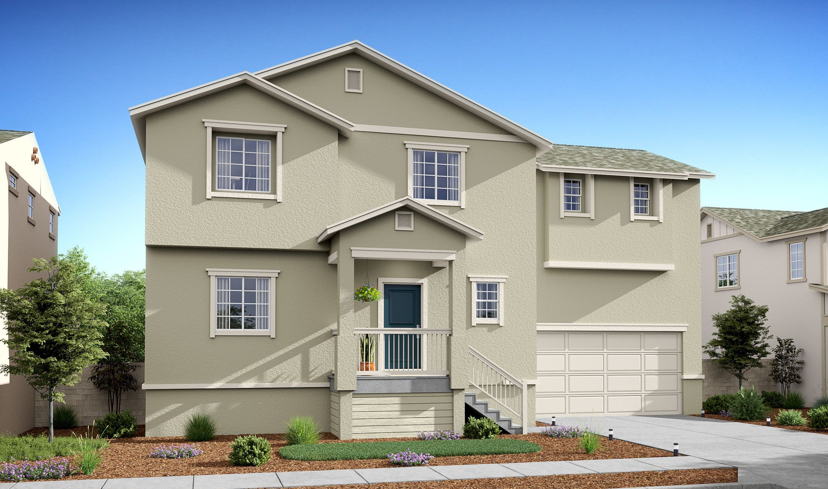 Exterior featured in the Harrison By K. Hovnanian® Homes in Stockton-Lodi, CA