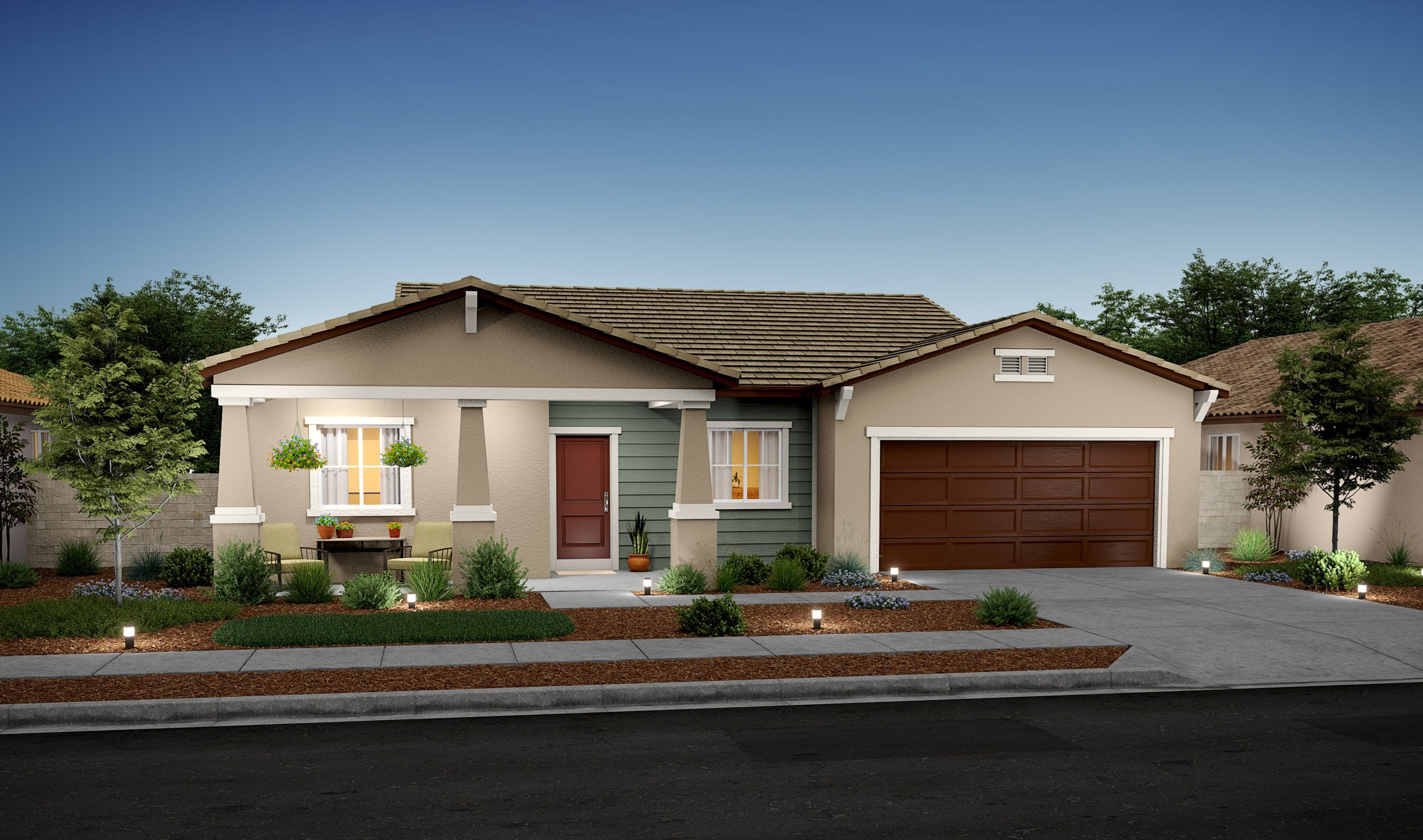 Exterior featured in the Coralroot By K. Hovnanian® Homes in Bakersfield, CA