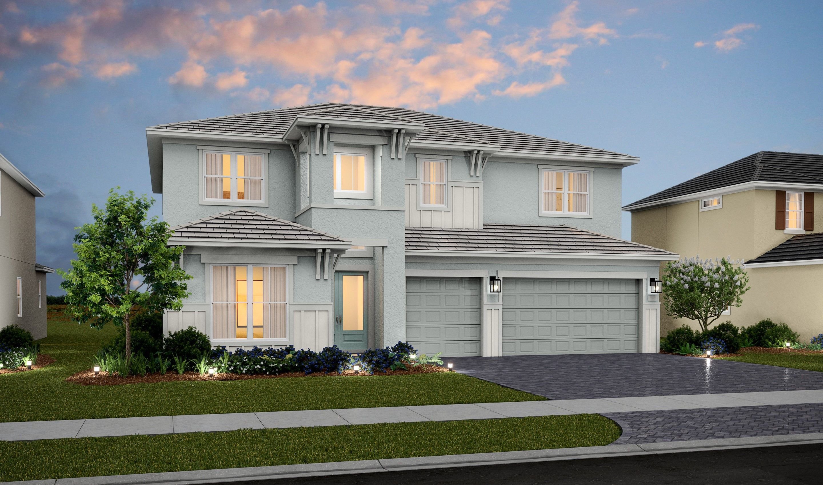 Exterior featured in the Rosada II By K. Hovnanian® Homes in Palm Beach County, FL