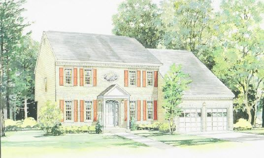 Elevation I:Shown with optional porch and brick front