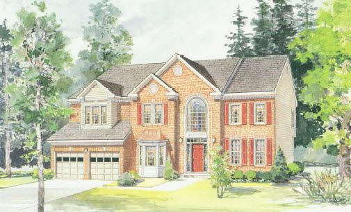 Elevation I:Shown with optional bay window and brick front