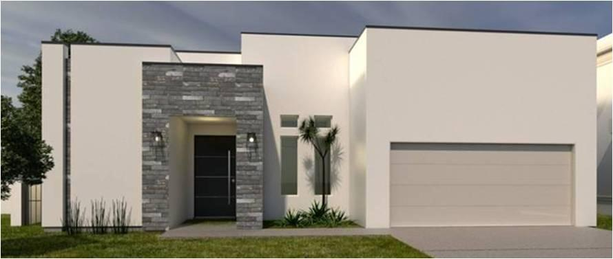 Exterior featured in the Plan 1  By KRK Homes in Laredo, TX