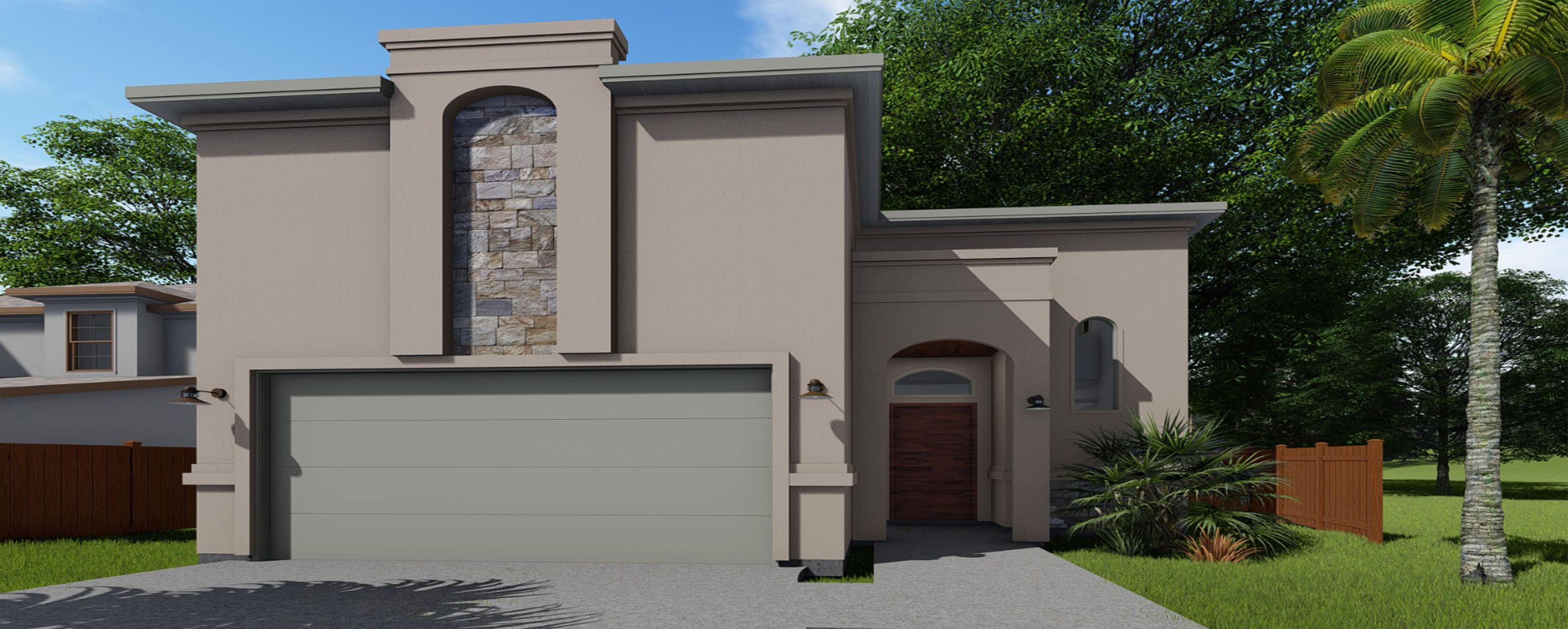 Exterior featured in the 1405 Orto Dr. By KRK Homes in Laredo, TX