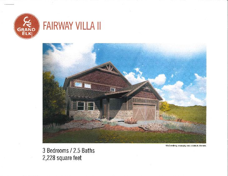 Fairway Villa II 2-story Rendering
