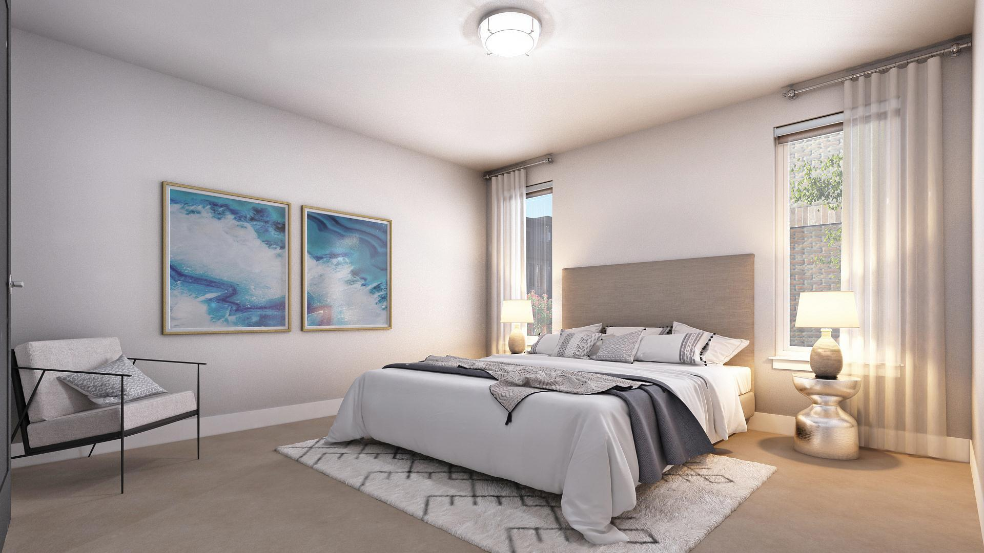 Bedroom featured in the Atlas - Main Floor Master End Unit By Koelbel Urban Homes in Denver, CO