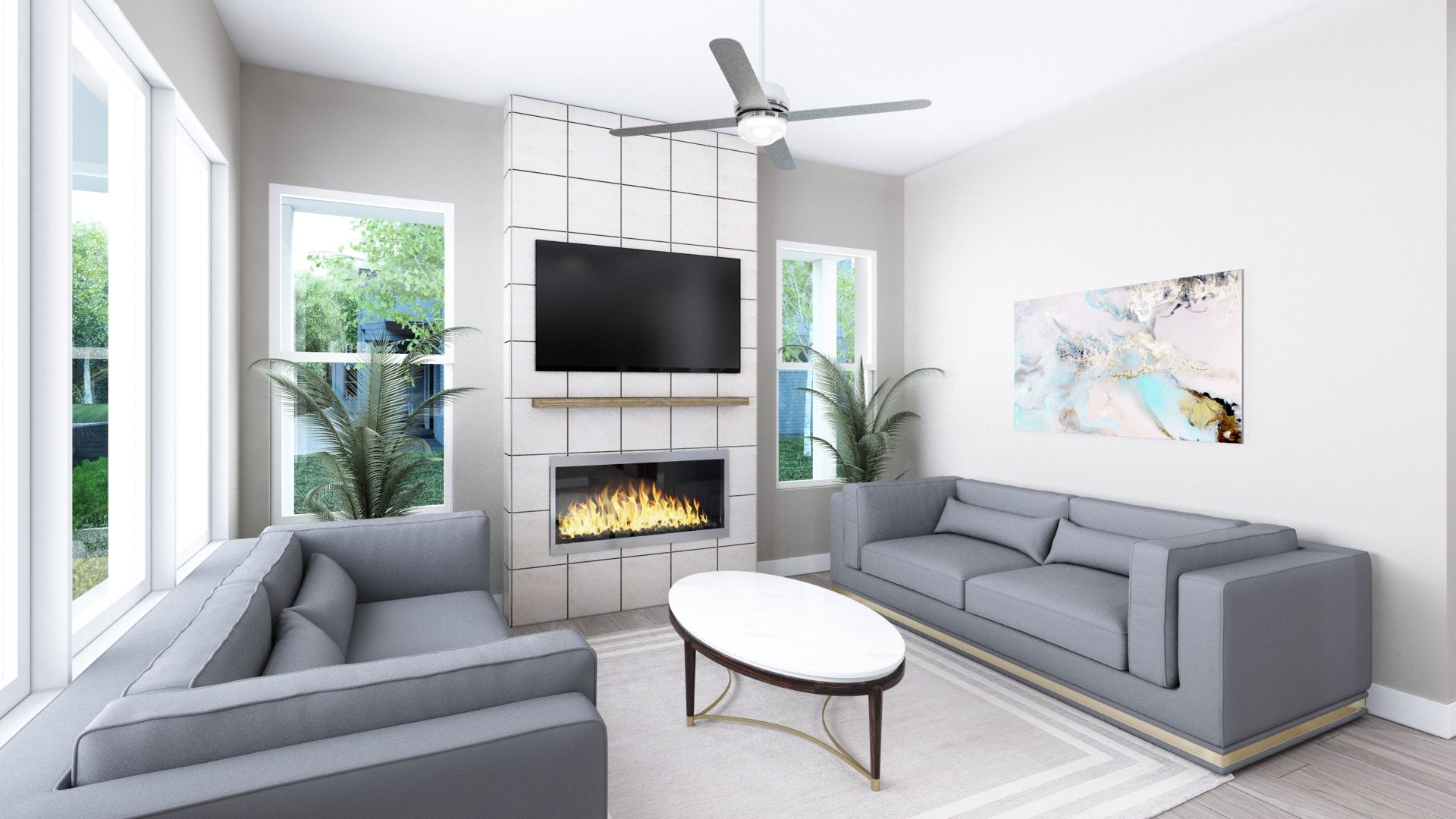 Living Area featured in the C Plan By Koelbel Urban Homes in Denver, CO