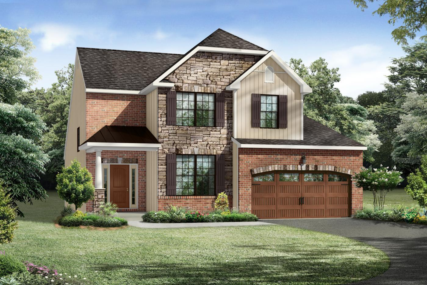Exterior featured in the Daggerwing II By Kay Builders in Allentown-Bethlehem, PA